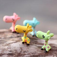 New Arrival Cartoon Animal giraffe ornaments miniature garden Decoration DIY Craft Bonsai Decor Ornament