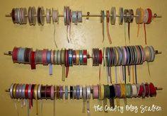 DIY Ribbon Crafts : DIY Ribbon Storage