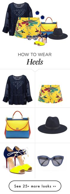 "Love this...I'd never wear it but I do love it!!! ""Shorts and Heels"" by no-where-girl on Polyvore"