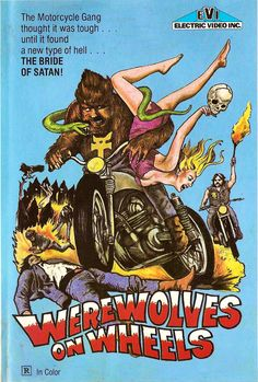 Werewolves on Wheels - Old Motorcycle Film - Rated R...