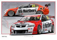 Australian V8 Supercars, Australian Cars, Holden Australia, Racing Car Design, Car Prints, Aussie Muscle Cars, Holden Commodore, Old Race Cars, Car Wrap