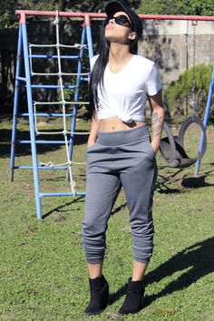 Scarlet Aura | DIY Joggers With Pockets