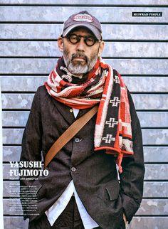 Yasushi Fujimoto Art Director - stylish at 81 Mature Mens Fashion, Outfits For Spain, Masculine Style, Rugged Style, Stylish Boys, Advanced Style, Cool Style, Street Wear, Menswear