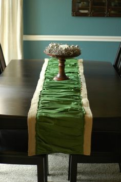 Modern Ruffled Burlap Table Runner via MakelyHome.com