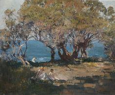 Seaside Pastoral C.1921 Arthur Ernest Streeton (1867-1943) Australia