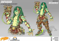 Lúcio as a swamp monster for a Heroes of the Storm/Overwatch fanskin. This was obviously inspired by The Creature from the Black Lagoon, but there's also a lot of inspiration taken from the Encantado from Brazillian folklore. The Encantado is an Overwatch Costume, Overwatch Comic, Overwatch Memes, Overwatch Fan Art, Overwatch Drawings, Overwatch Skin Concepts, Heroes Of The Storm, Fantasy Races, Young Animal