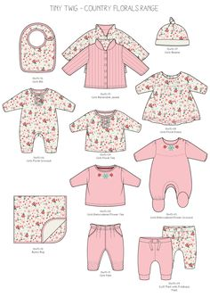 Emily Kiddy: Tiny Twig - Australia - Part 3 Baby Sewing Projects, Sewing For Kids, Silhouette Mode, Fashion Vector, Baby Suit, Fashion Design Sketches, Kids Prints, Kid Styles, Baby Design