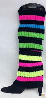 Neon Striped Leg Warmers for 80s dress-up from BoutiqueRetailer at ebay.