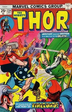 Thor #234 - O, Bitter Victory!  Cover art by Gil Kane and Dick Giordano.  Kane is one of my favorites, and Dick has become one over the years.  The man could make Sal Buscema's art look fantastic even when Sal was in his worst slump, as we saw once in the Man Called Nova.  You see a bit of that here as well.