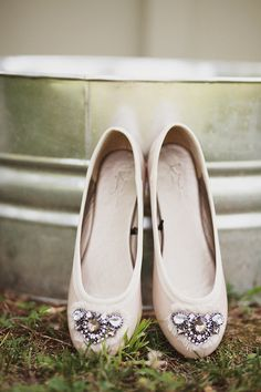 super sweet ballerina flats with gems - Photograph by ulmerstudios.com