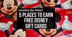 Did you know you can earn FREE Disney Vacation Gift Cards with these great rewards programs? All of these sites are safe and completely free!