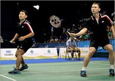 Howard Bach reunited with fellow World Champion Tony Gunawan. The pair made history in 2005 when they won the gold medal in the men's doubles competition at the World Badminton Championships in Anaheim, becoming the first USA Badminton athletes to ever medal at a World Championship or Olympic competition.