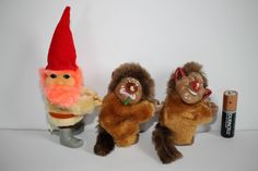 /3 vintage David the gnome trolls Clip Ons toys huggers plush figures el gnomo\