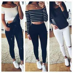 3 Looks com tênis branco