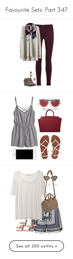 """Favourite Sets: Part 34❣"" by nattiexo ❤ liked on Polyvore featuring J Brand, Forever 21, Sole Society, Essie, Majorica, J.Crew, H&M, Billabong, Le Specs and MICHAEL Michael Kors"