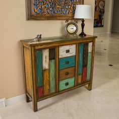 Everest Multi-Color Wood Cabinet by Christopher Knight Home (Multi-Color), Brown