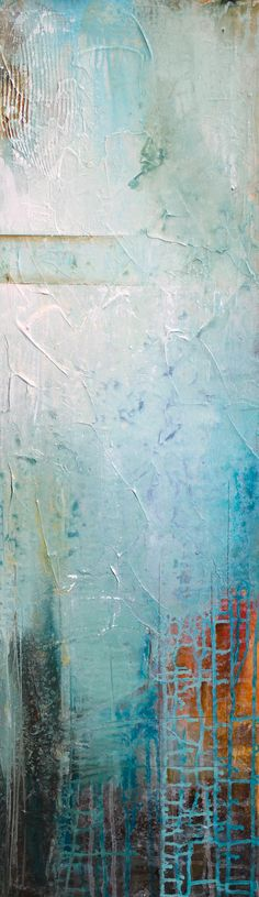 """Breathe Easy"" 12x40 Can hang horizontally or vertically www.karenhale.com"