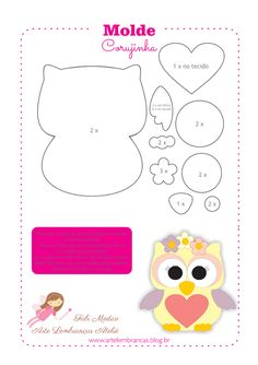 Felt owl pattern by Friends of the Felt Owl Crafts, Diy And Crafts, Crafts For Kids, Paper Crafts, Owl Patterns, Applique Patterns, Sewing Patterns, Owl Applique, Sewing Crafts