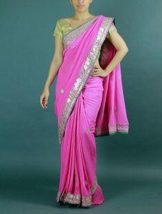 Pink Gota Saree