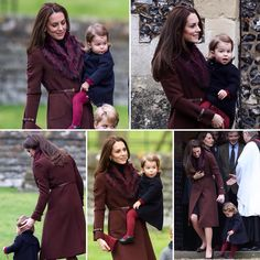 Duchess Kate and Princess Charlotte at Christmas service via @dailymailuk via ✨ @padgram ✨(http://dl.padgram.com)