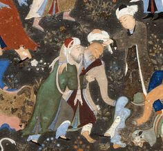 """Dancing Dervishes"", Folio from a Divan of Hafiz Painting attributed to Bihzad, (ca. 1450–1535/36), c1480."