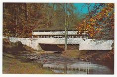 Postcards - United States # 374 - Covered Bridge, Valley Forge Park, Pennsylvania