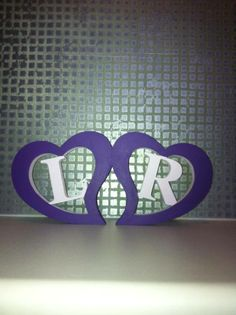 Hearts with initials.