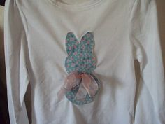 Applique Easter Bunny Top by BespokeBabyBoutique on Etsy