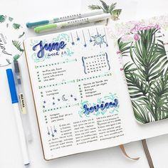 bullet journal bujo planner ideas for weekly spreads studygram study gram calligraphy writing idea inspiration month dates study college green leaf layout one page tips quotes