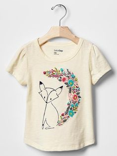 Embroidered graphic tee