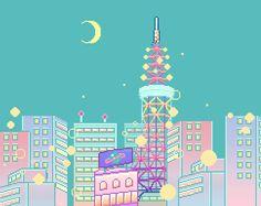 Картинка с тегом «city, pastel, and pixel»