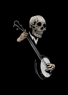 Skullyboy's Banjo Blues by Matthew Dunn via Society6
