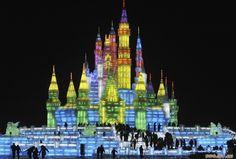 Harbin's Ice Lantern Festival in North-East China is  wonderful thing to see if you are visiting in the winter. It showcases some of the most magnificent ice sculptures anywhere in the world.