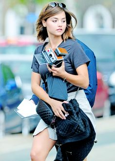 Jenna Louise Coleman... Also I WANT that camera