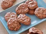 Gluten Free Chocolate Meringue Cookies - vanilla - white vinegar - 4 large eggs - sugar - walnuts - 12 oz. bittersweet chocolate