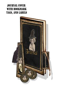 Gothic Journal Cover and collage sheets DIY by Raidersofthelostart