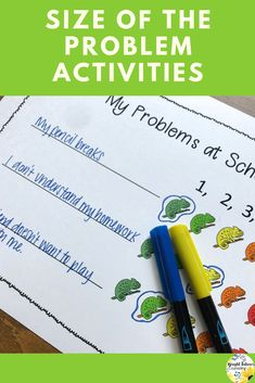 Help students learn self-regulation strategies, how to identify the size of the problem and how to practice appropriate reactions with this fun, chameleon themed self-regulation activity pack. Social Skills Activities, Teaching Social Skills, Counseling Activities, Social Emotional Learning, Student Learning, Elementary School Counselor, School Counseling, Elementary Schools, Group Counseling