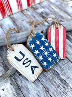 Harvest Decorations, 4th Of July Decorations, Thanksgiving Decorations, American Flag Wood, American Flag Stars, Wooden Pumpkins, Wood Tags, Rustic Cabin Decor, Wood Ornaments
