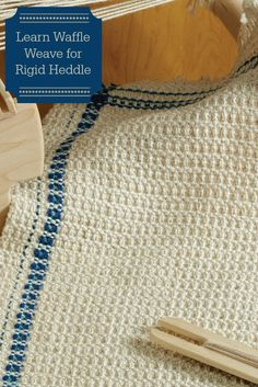 Wait, you can do waffle weave on a rigid heddle? Just one easy pick-up stick, and you're on your way! Get the instructions in this free eBook!