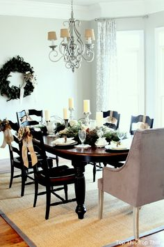 Top This Top That: Woodland Glam Dining Room and Table