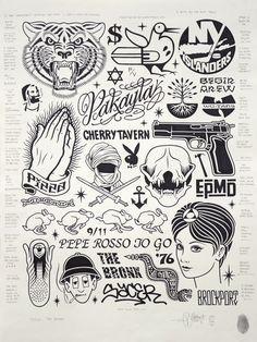 Mike Giant, Recent Work. Brand new work by Mike Giant who is. Mike Giant, Tattoo Sketches, Tattoo Drawings, Body Art Tattoos, Black Tattoos, Small Tattoos, Dessin Old School, Graffiti, Flash Design