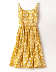 Take a look at our comfortable and stylish day dresses, here at Boden UK. Shop all the latest styles online now. Pretty Outfits, Pretty Dresses, Cute Yellow Dresses, Yellow Clothes, Dress Skirt, Dress Up, Prom Dress, Anna Dress, Dress Clothes