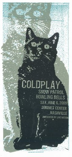 Coldplay / Snow Patrol / Howling Bells at the Sommet Center, Nashville - Concert poster by Print Mafia (2009)
