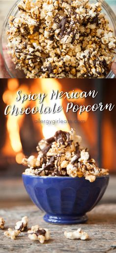 Break into pieces and enjoy!  Spicy Mexican Chocolate Popcorn is top 8 free! Sweet and spicy this popcorn makes the perfect party snack.