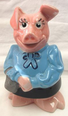 VINTAGE VINTAGE WADE CERAMIC NAT WEST LADY HILARY HILLARY PIGGY BANK MONEY BANK #Wade