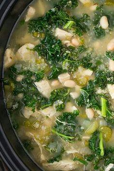 Slow Cooker Kale Soup