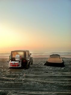 beach camping. california.