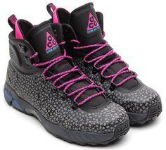 7c3672175b15 2013 nike zoom meriwether posite safari sz 9.5 black pink camo acg  616215-040