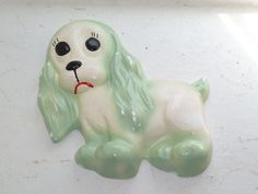 Hey, I found this really awesome Etsy listing at https://www.etsy.com/listing/161634063/chalkware-dog-blue-and-white-cocker