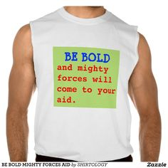 BE BOLD MIGHTY FORCES AID SLEEVELESS TEE